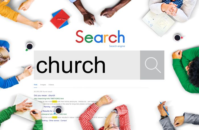 google search for church