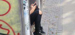 girl on phone